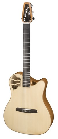 Guitare folks AMELIE nylon Ghirotto luthier